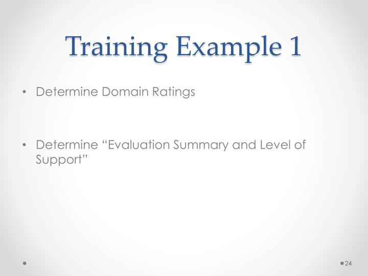 Training Example 1