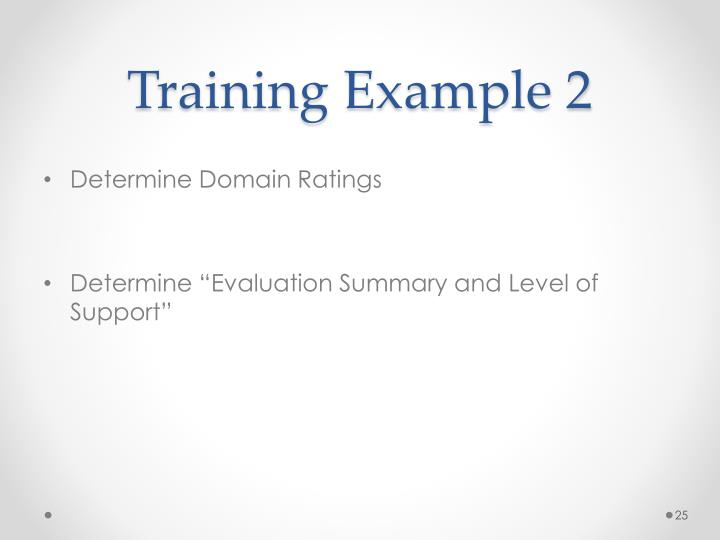 Training Example 2