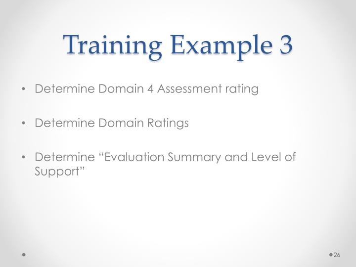Training Example