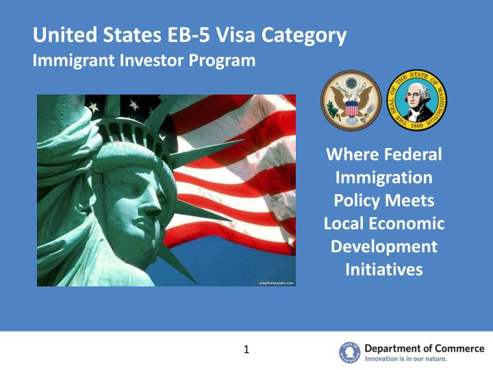 United states eb 5 visa category immigrant investor program
