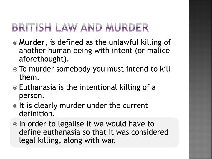 British law and murder