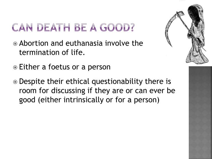Can death be a Good?