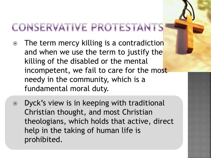 Conservative protestants