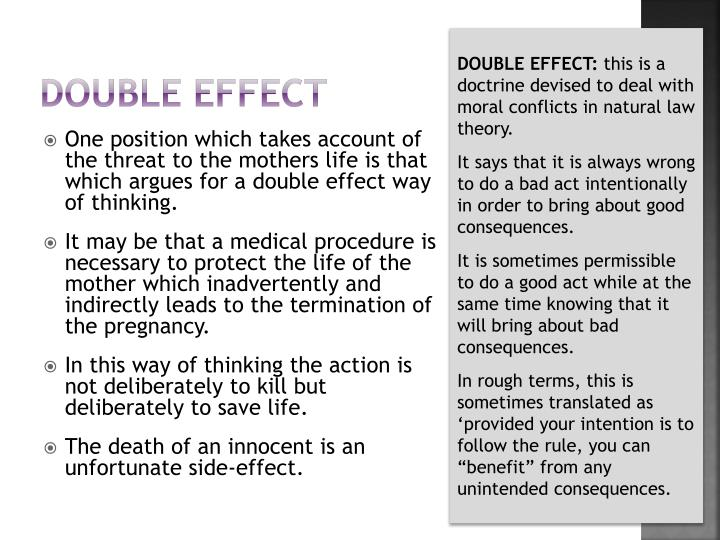 Double effect