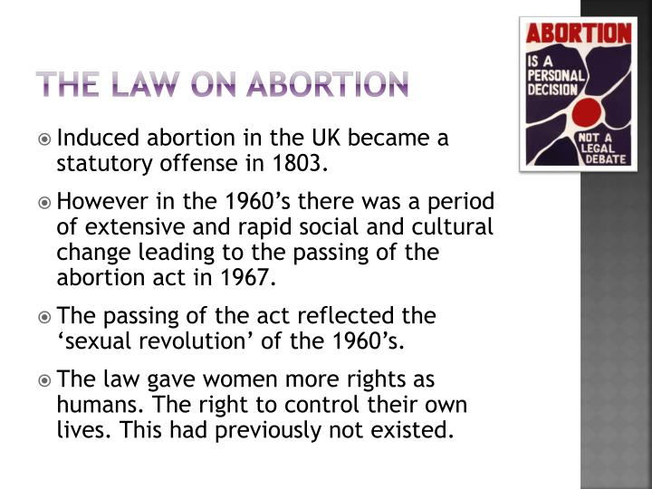The law on abortion
