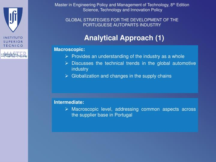 Analytical Approach (1)