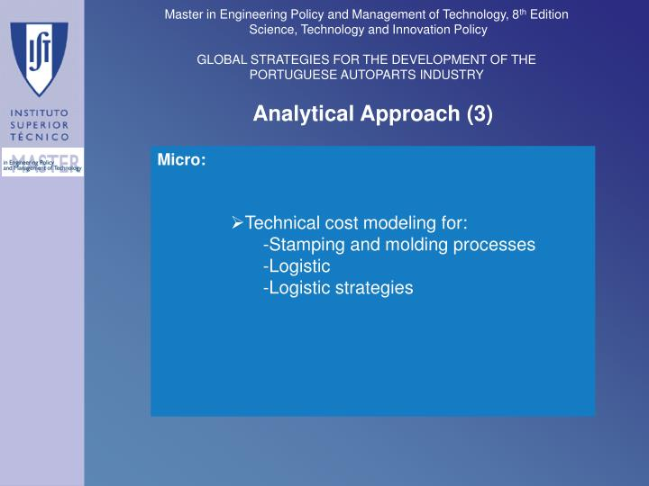 Analytical Approach (3)