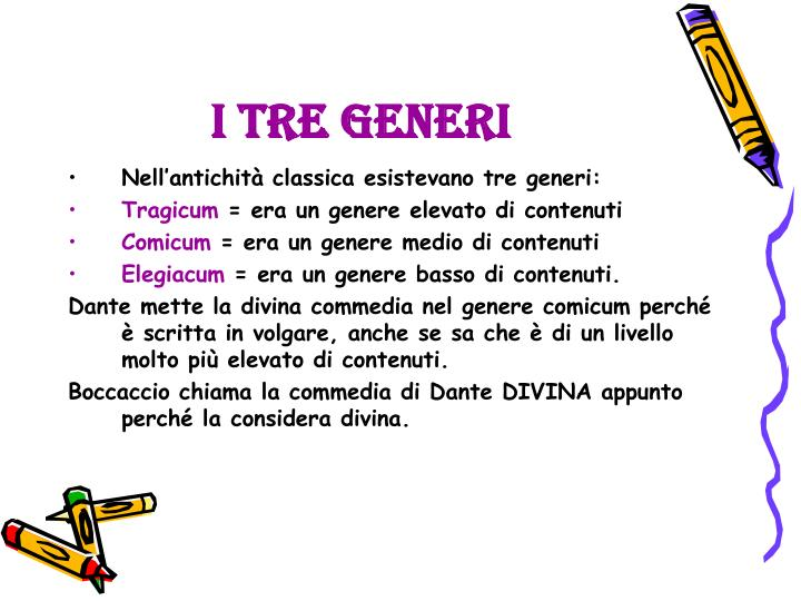 I tre generi