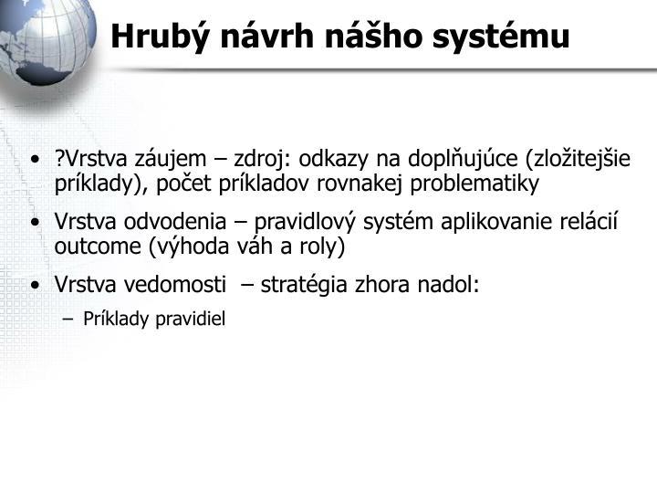Hrubý návrh nášho systému