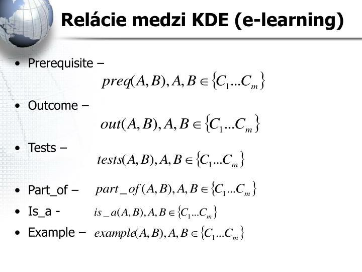 Relácie medzi KDE (e-learning)