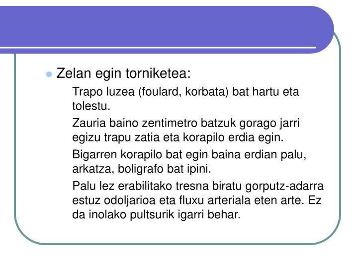 Zelan egin torniketea: