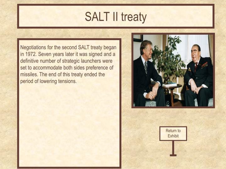SALT II treaty