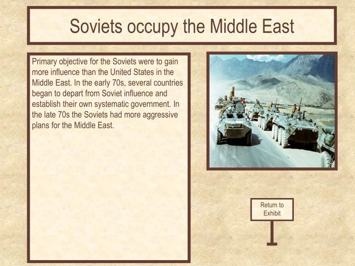 Soviets occupy the Middle East