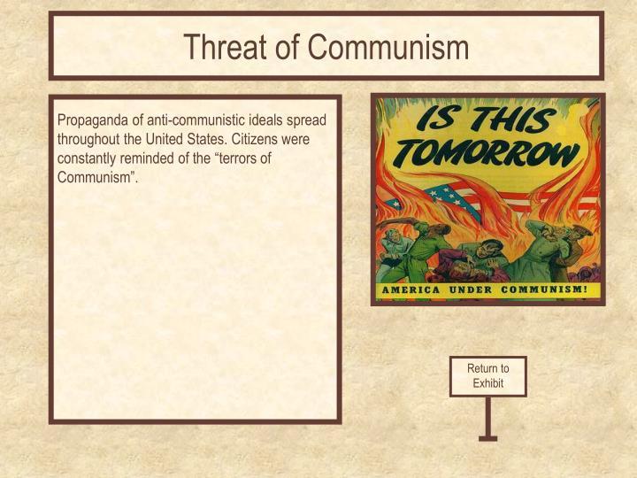 Threat of Communism
