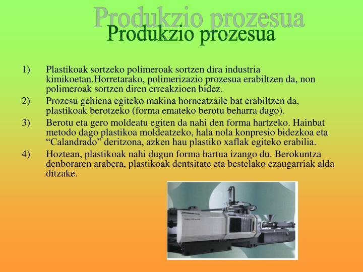 Produkzio prozesua