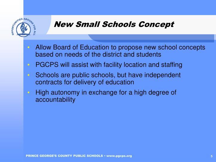 New Small Schools Concept