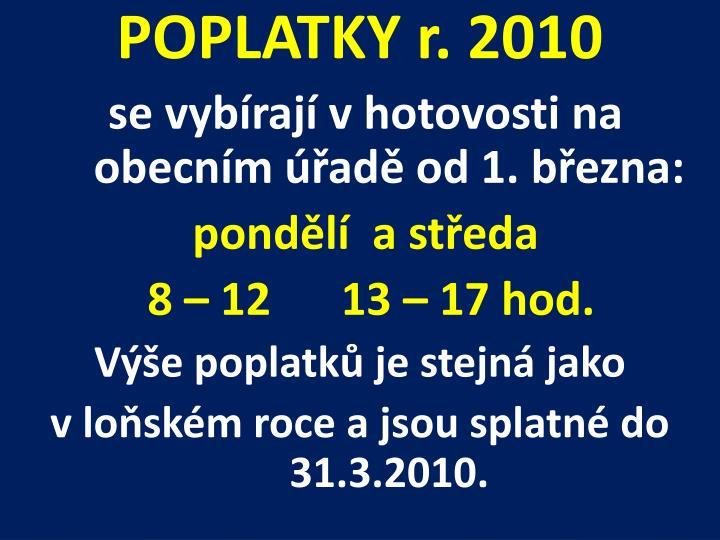 POPLATKY r. 2010