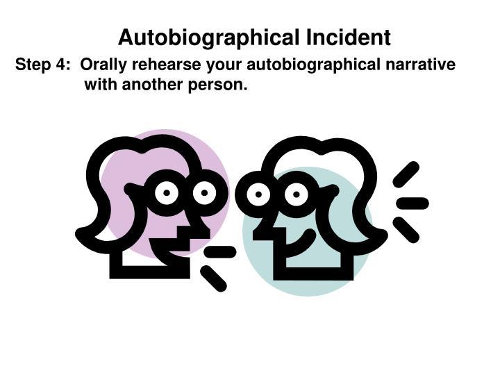 Autobiographical Incident