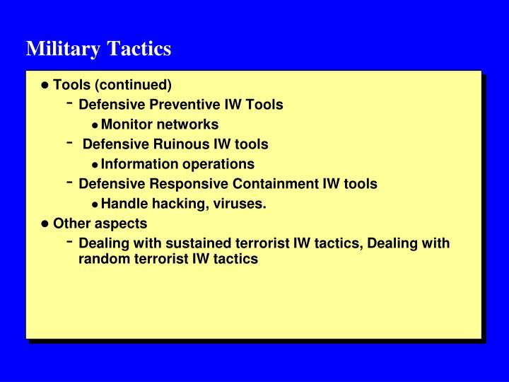 Military Tactics