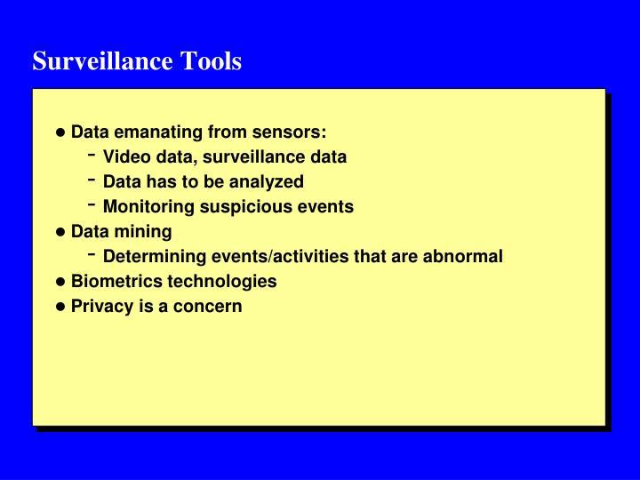 Surveillance Tools