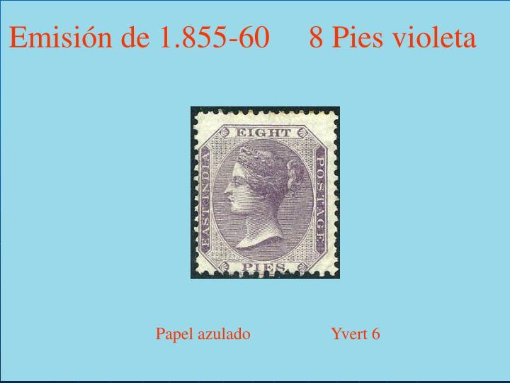 Emisión de 1.855-60     8 Pies violeta