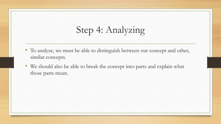 Step 4: Analyzing