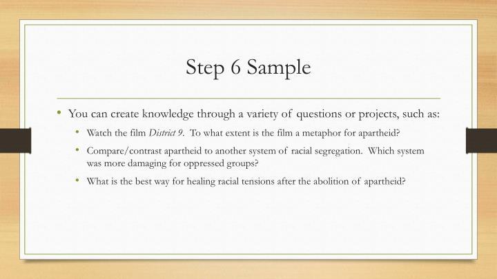 Step 6 Sample
