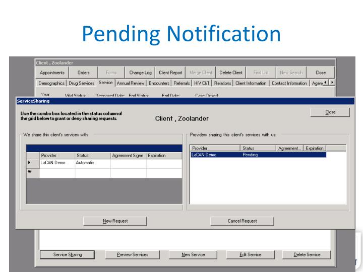 Pending Notification