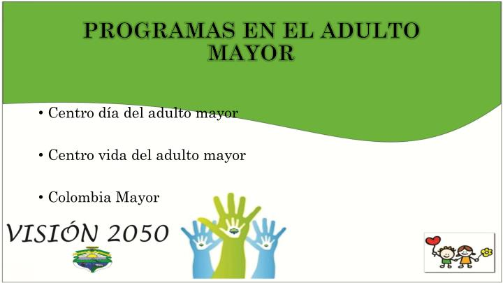 PROGRAMAS EN EL ADULTO MAYOR