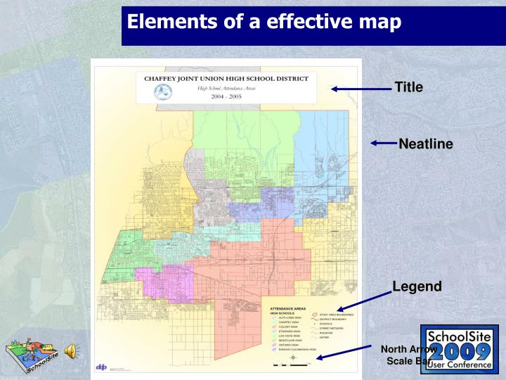 Elements of a effective map