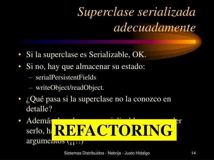 Superclase serializada adecuadamente
