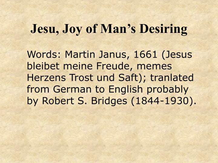 Jesu joy of man s desiring1