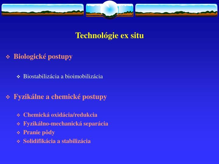 Technológie ex situ