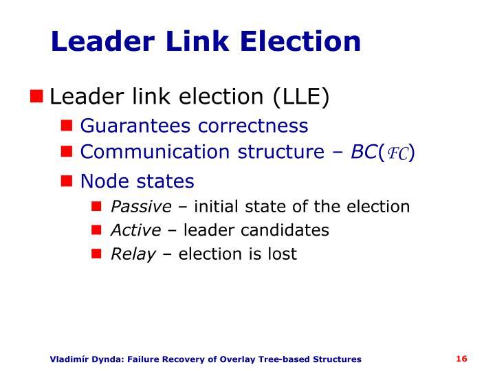 Leader Link Election