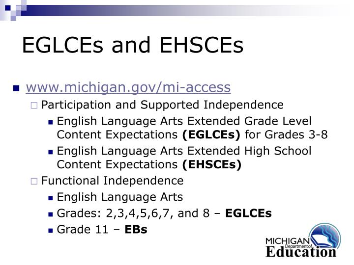 EGLCEs and EHSCEs