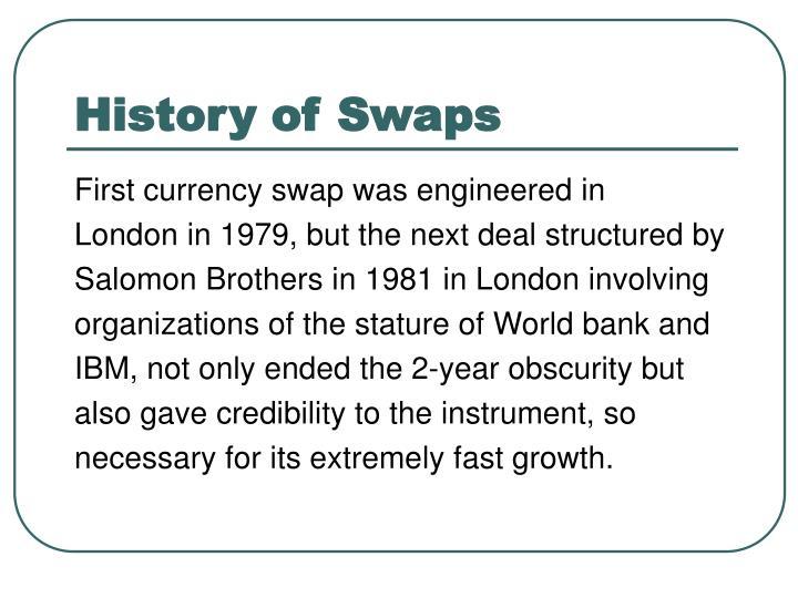 History of Swaps
