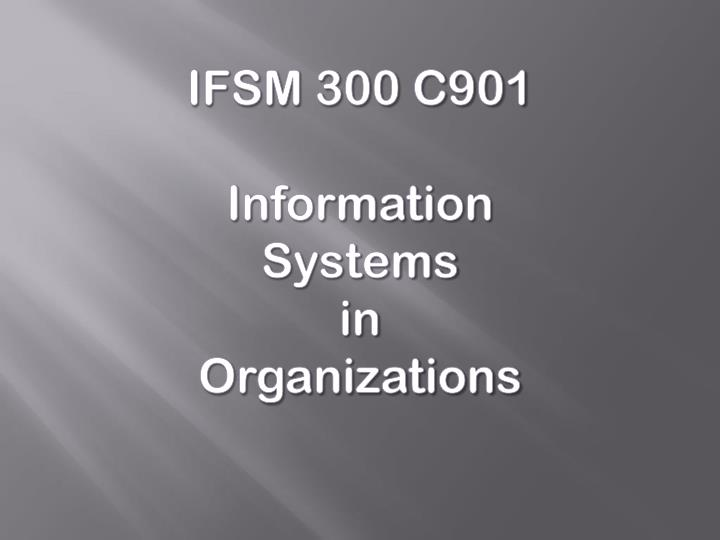 IFSM 300 C901