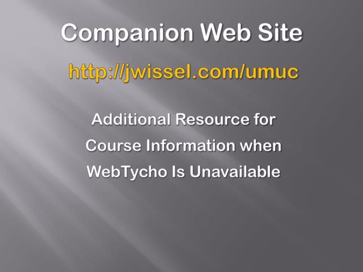 Companion Web Site