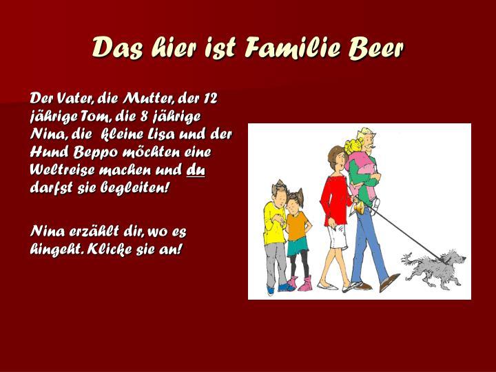 Das hier ist Familie Beer