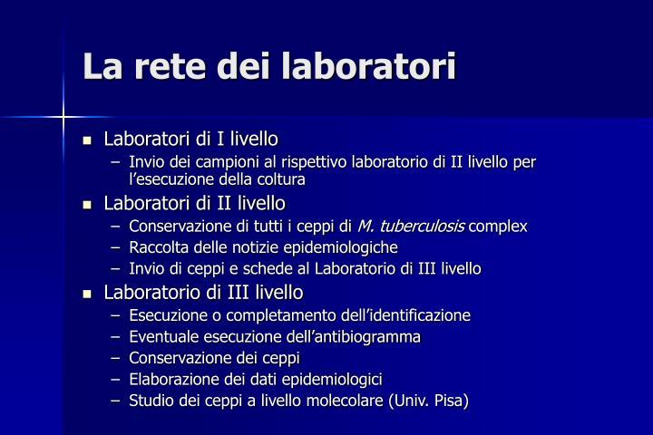 La rete dei laboratori