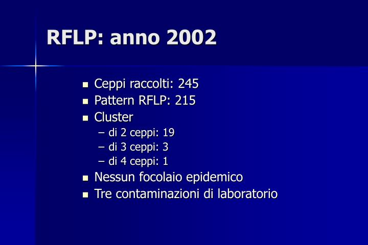 RFLP: anno 2002