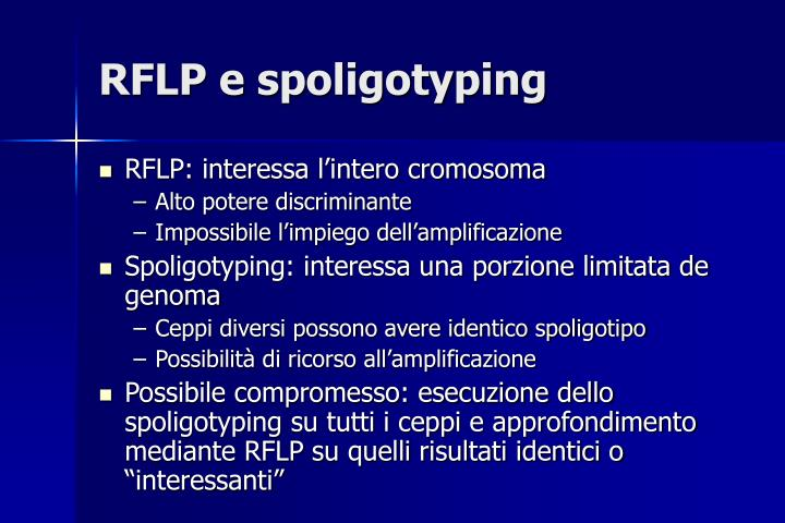 RFLP e spoligotyping
