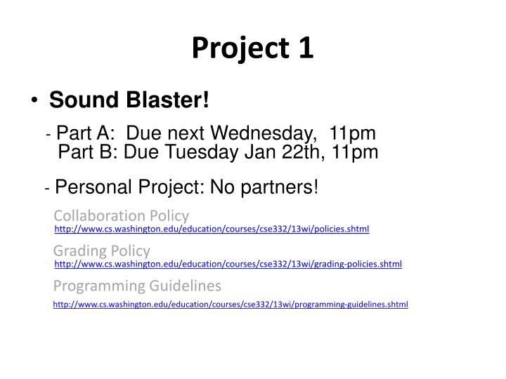 Project 1