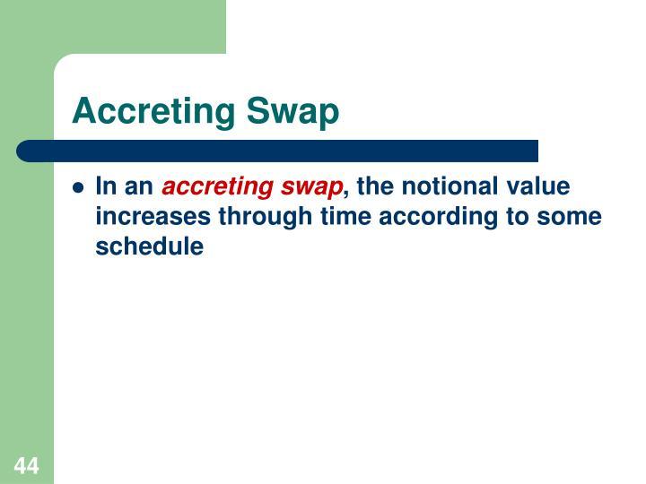 Accreting Swap