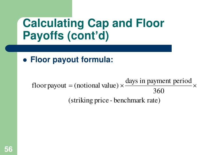 Calculating Cap and Floor Payoffs (cont'd)