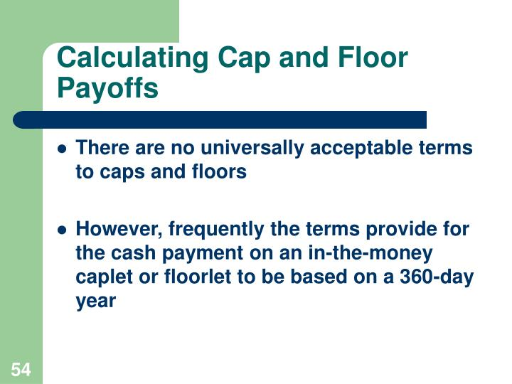 Calculating Cap and Floor Payoffs