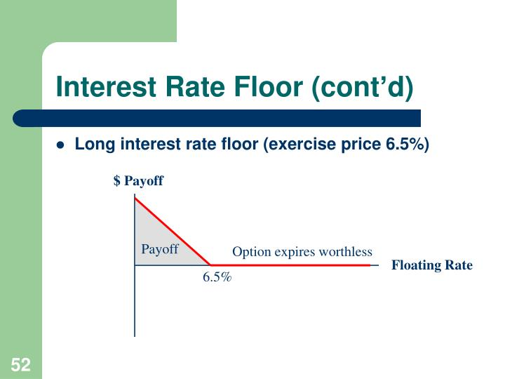 Interest Rate Floor (cont'd)