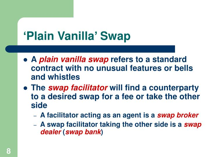 'Plain Vanilla' Swap