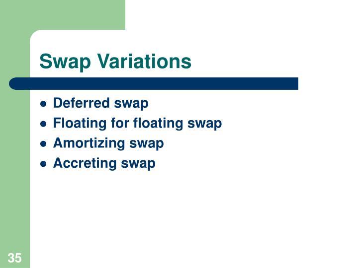 Swap Variations