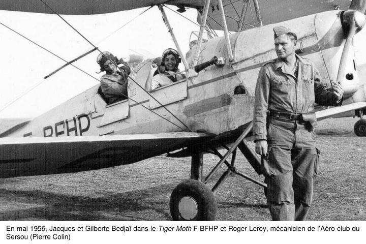 En mai 1956, Jacques et Gilberte Bedjaï dans le